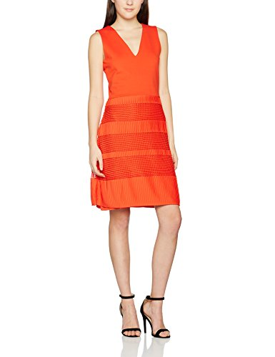 orange lace cocktail dress - 8