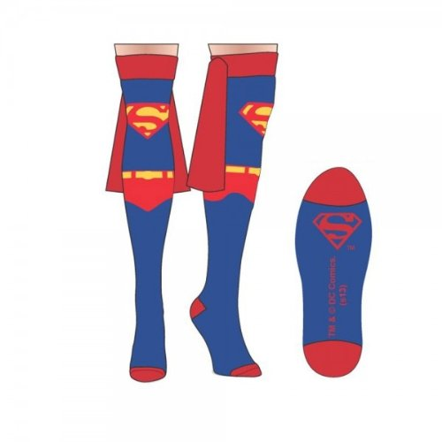 Superman Suit Up Over the Knee Cape Sock