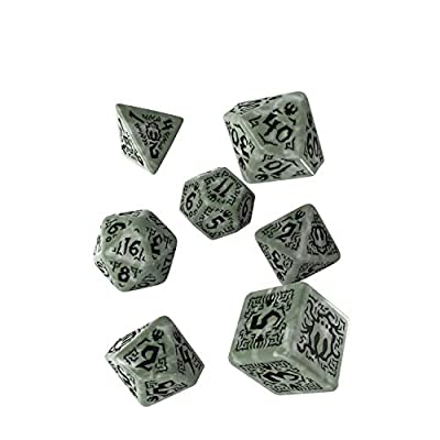 Q-Workshop Pathfinder Tyrant's Grasp Dice Set: Toys & Games