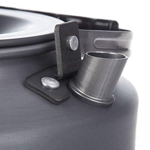 Tmalltide 1.1L Kettle Picnic Camping Cookware Teapot Water Coffee Pot Aluminum Outdoor