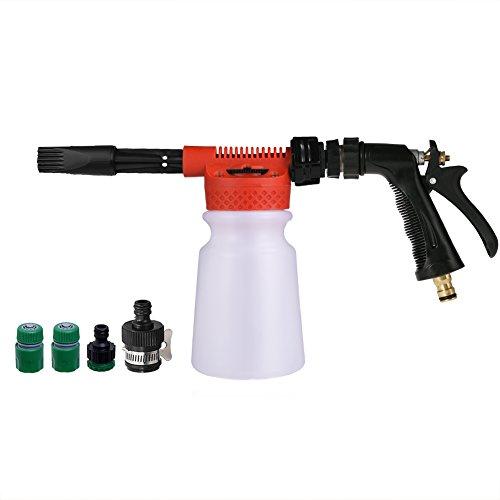 ALLCACA Car Wash Foam Gun 900ML Bottle High Pressure Adjustable Snow Foamer Lance Wash Gun Cleaning Nozzle for Garden Hose