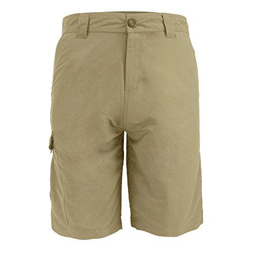 Leehanton Men's Ripstop Cargo Shorts (40, Khaki)