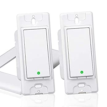 meross Smart WiFi Light Switch, Wall Switch, Compatible with Amazon Alexa, Google Assistant and IFTTT, Remote Control, Schedules, Timer, No Hub Needed – Upgrade Version 2 Pack