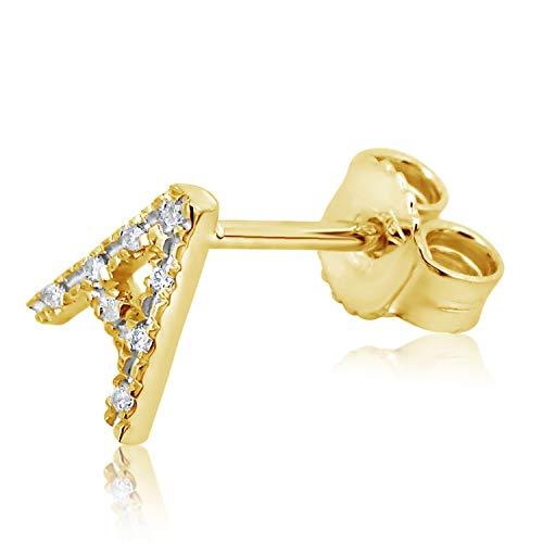 Amori Mille Mono Per Donna Giallo 375 Iniziale 04 nbsp;nbsp;oro Con uomo 1000 9 nbsp;carati Orecchino nbsp;nbsp;diamanti 0 nbsp;carati rrdwxXUn5q