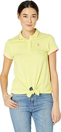 (U.S. Polo Assn. Women's Tie Front Polo Shirt Mai Tai Large)