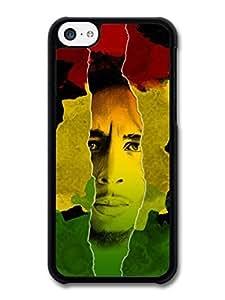 AMAF ? Accessories Bob Marley Jamaican Flag Portrait Rasta Reggae case for iphone 6 plus