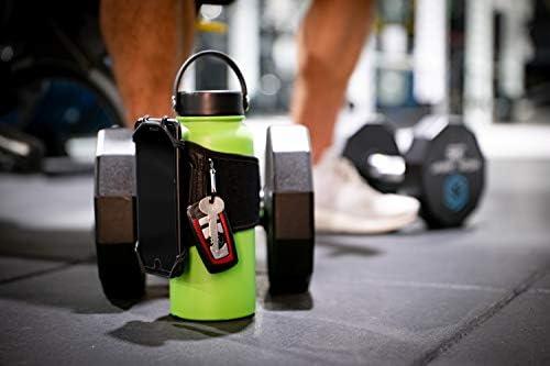 Gym Water Bottle Pouch – Water Bottle Strap 18-40oz gym bottles, Water Bottle Holder for Walking, Sport Water Bottle Sleeve FITWALLET Running phone holder, Cell Phone Card Holder Water Bottle Carrier