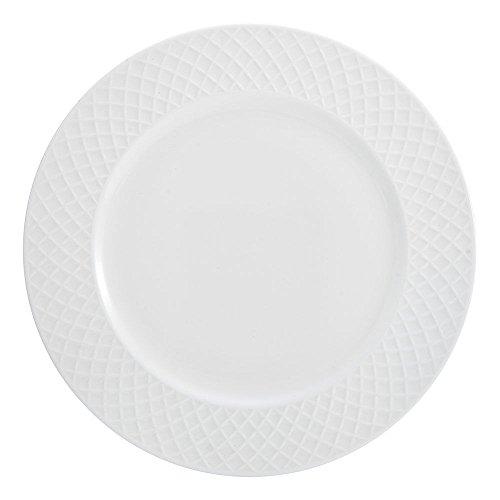 MIKASA Mikasa Trellis White Dinner Plate - The Trellis dinnerware collection (Pink Crock Pot Slow Cooker)