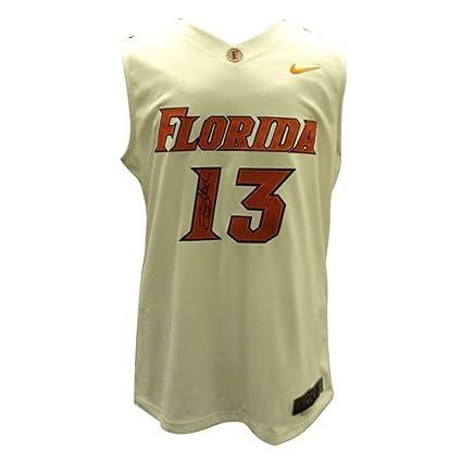 cb61eb53347 Image Unavailable. Image not available for. Color: Joakim Noah Autographed Florida  Gators (White #13) ...