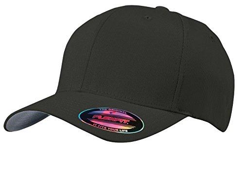 Port Authority Men's Flexfit Cap. C865 L/XL Black (Hat Mens Flexfit Port Authority)