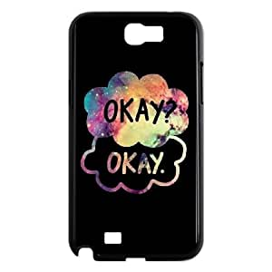 Samsung Galaxy N2 7100 Cell Phone Case Black OKAY Design Plastic Phone Case Cover CZOIEQWMXN1709