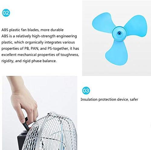 Ventilatore da Pavimento, Ventola di Raffreddamento Portatile ad Alta efficienza, Ventola Desktop da Ufficio/Magazzino, Protezione da surriscaldamento Silenzioso / 145 ° (Nero)