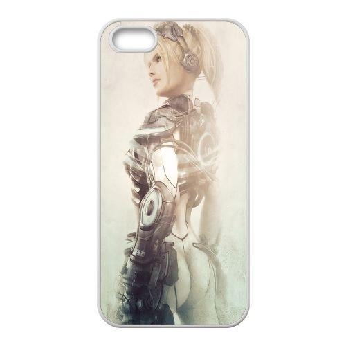 Starcraft Ghost coque iPhone 4 4s cellulaire cas coque de téléphone cas blanche couverture de téléphone portable EEECBCAAN00802