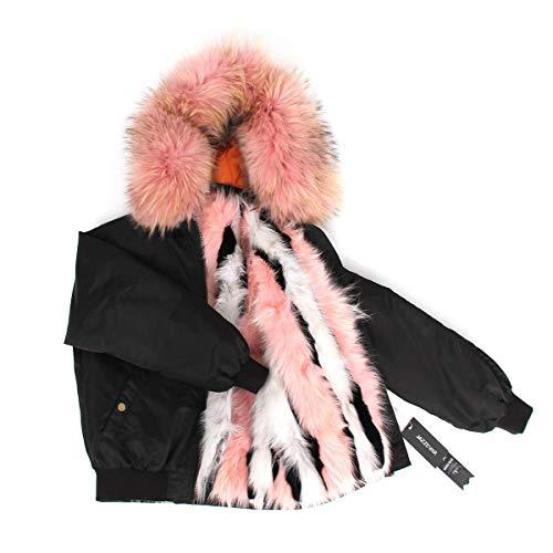 de JSGJCOAT lujosas Chaqueta Invierno Mujeres Caliente la de la Gruesa Calle de Manera Escudo 11 color Corto Abrigo de la de Las ABZrA