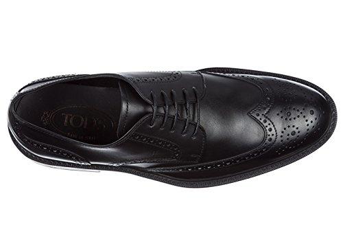 Chaussures Hommes Tod Hommes En Cuir Chaussures Daffaires En Dentelle Derby Noir