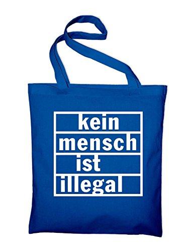 Tasche Green Kein Fabric Ist Styletex23jtillegal4 Royal Blue Bag Bag Mensch Illegal In Jute Cotton And green CFRvq