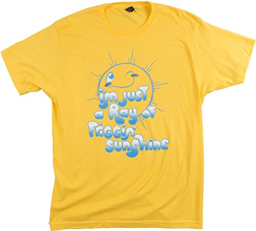 I'm a Ray of Friggin' Sunshine | Funny Sarcasm Sarcastic Humor Fun Silly T-shirt-(Adult,3XL) (Ray Yellow T-shirt)