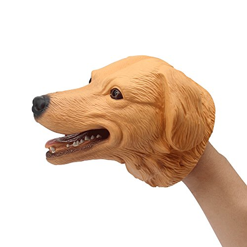 - KAJA Soft Rubber 6 Inch Realistic Animal Hand Puppets Role Play Toy for Kids and Toddlers (Dog)