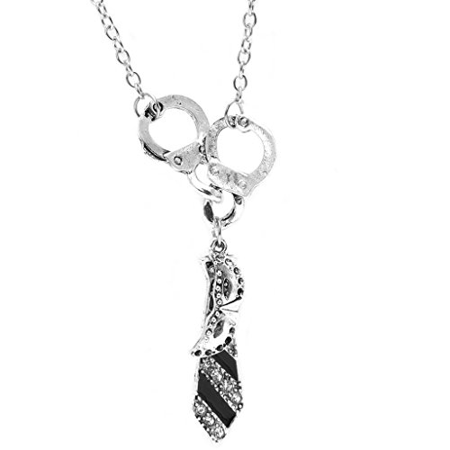JUA PORROR Fifty Shades Of Grey Darker Handcuffs Masquerade Mask Tie Necklace Jewelry Gifts