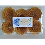 50th-Anniversary-Decorations-6-Metallic-Gold-Roses-3-Inch-Big-Paper-Flowers-Set-Golden-Years-Celebration-Party-100th-Birthday-Bash-Wedding-Reception