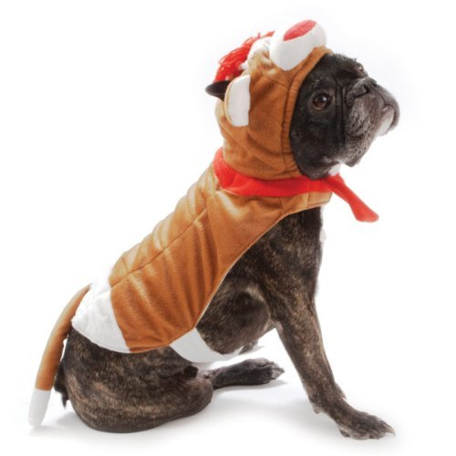 SOCK MONKEY DOG COSTUME Plush Dress Up Outfit Pet Halloween size LARGE -