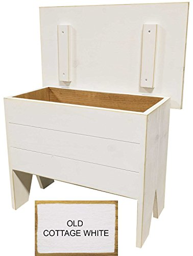 Sawdust City Entryway Bench With Storage 2' long (Old Cottage White) by Sawdust City (Image #3)