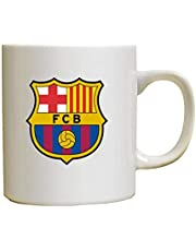 Ceramic Mug of coffee or tea with Barcelona logo, fixed colors - Designed for Funny