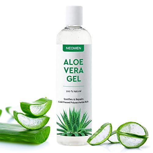 Natural & Organic Aloe Vera Gel, Soothes Aloe Vera Leaf Gel With Pure Organic Aloe Vera To Repair Your Skin (new)