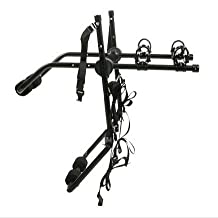 Deluxe Black 2-Bike Trunk Mount Bicycle Carrier Rack. (Fits most Sedans/Hatchbacks/Minivans and SUVs.)