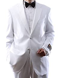 Mens Single Breasted Two Button White Tuxedo