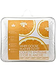 Canadian Down & Feather Co - All Season White Goose Feather Duvet Queen Size - 233 TC Shell 100% Cotton - Oeko TEX Certified
