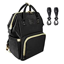 Diaper Backpack, Multi-Function Waterproof Lightweight Nappy Bag With Stroller Straps for Travel with Baby, Large Capacity, Stylish and Durable