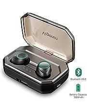 Auriculares Bluetooth 5.0 Vigorun Inalámbricos In Ear Deportivos Auriculares de Sonido Estéreo con 3000mAh Caja de Carga,IPX6 Impermeable,Reducción de Ruido CVC8.0, para iOS y Android