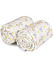 Quillmer - Baby Swaddle Blanket (2 Pack) | Super Soft Premium Muslin Newborn Baby Blanket for Girls & Boys | Adorable Animal Print Makes Great Unisex Nursing Cover for Infants