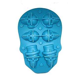 1 Pack of Skull Ice Cube Molds Blue