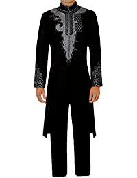 Mens Black Tuxedo TChalla 3D Print for Black Panther Cosplay Costume