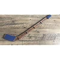 """Hockey Stick Coat Rack with 5 Hooks 36"""" BLUE"""