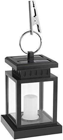 Blingbin LED solare, lanterna romantica,Lanterna solare Lanterna a lume di candela Lanterna da giardino a sospensione tenda di campeggio della terrazza del prato inglese del cortile, IP44 impermeabile