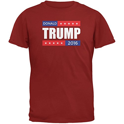Election 2016 Donald Trump Stacked Cardinal Red Adult T-Shirt