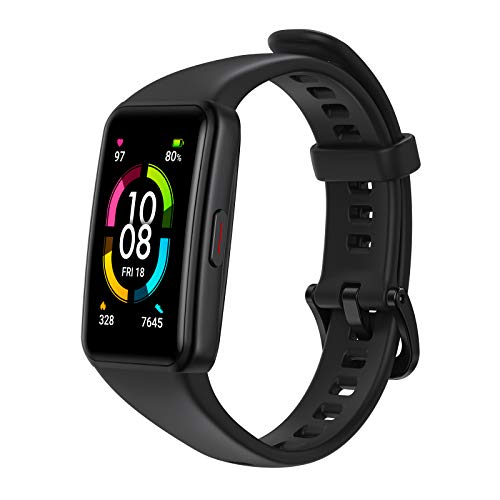 HONOR Band 6 Smart Watch Fitness Tracker Watches for Men Device only, black