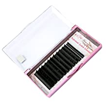 Silk Matte Black D Curl 0.15mm Thickness 8-14mm Mixed Length Ellipse Flat Semi-Permanent Natural False Eyelashes Extension (MS-DM15)