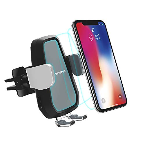 AZDOME Wireless Car Charger, 10W Fast Car Charge Mount, Gravity Operated, Air Vent Phone Charger Holder for Samsung Galaxy S8, S7/S7 Edge, Note 8 5, iPhone X 8 Plus, iPhone Xs/XS Max