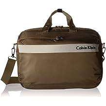 Calvin Klein Flatiron 3.0 Laptop Case Briefcase, Brown, One Size