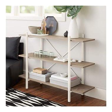 Mainstay 34  Conrad 3 Shelf Bookcase, White