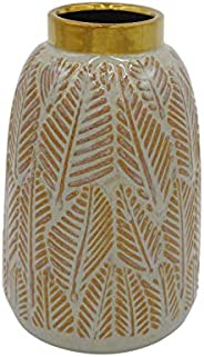 "Amazon Brand – Stone & Beam Mid-Century Feather Vase, 8.66""H, Neutral"