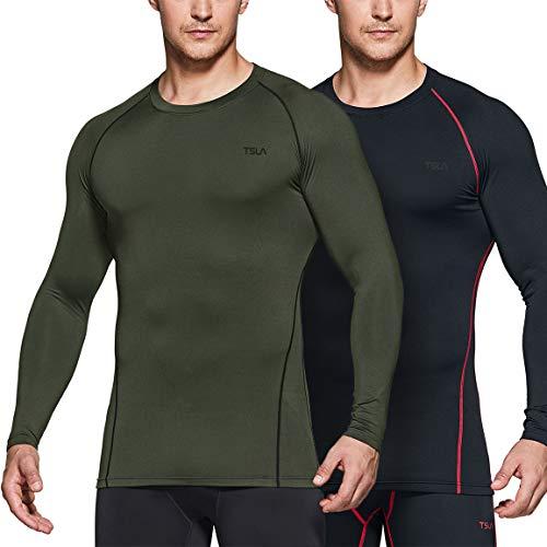 TSLA Men's Thermal Long Sleeve Compression
