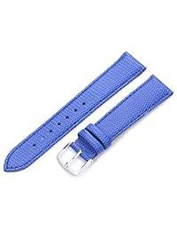 Hadley-Roma Women's LSL725RF 180 18mm Blue Java Lizard Grain Watch Strap