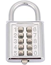 Cijferhangslot, stevig cijferslot, voor kofferkast(10-key electric silver)