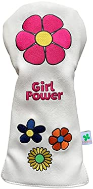 Foretra - Limited Edition Girl Power Design - Driver Head Cover - Tour Quality Golf Club Cover - Style and Cus
