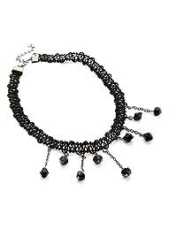 New Fashion Black beads Chocker Neckless With Charm